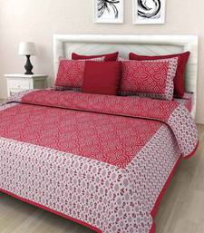 Noor Startup Cotton Handprinted Rajasthani Designe Queen Size Bedsheet With 2 Pillow Cover