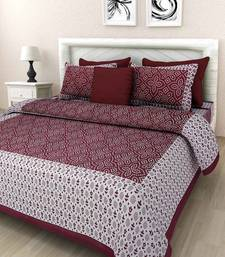 Noor Startup Jaipuri Cotton Queen Size Bedsheet With Pillow Cover Set