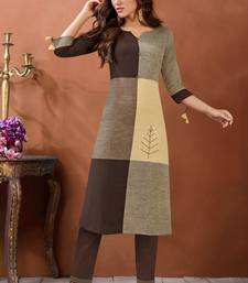 Navraj Women's Multicolored Cotton Printed Hand Work with Button Details Kurta with Bottom Sets