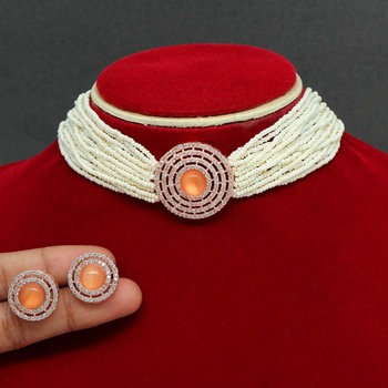 Orange necklace-sets
