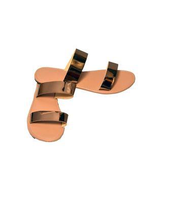 Good vibes only flats sandal