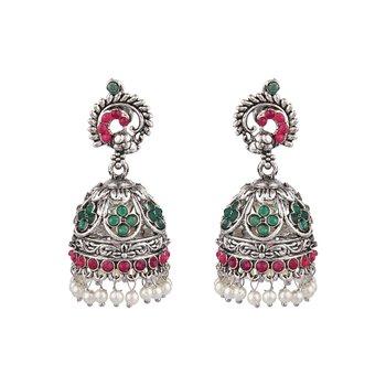 Multicolor zircon   earrings
