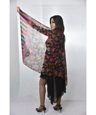 Fine Wool Stole  Pashmina Soft and Warm  Floral Paisley Pattern Stole/ Shawl / Scarf