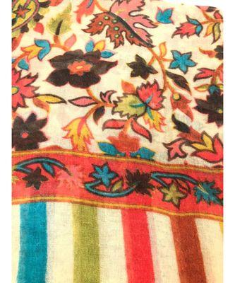 Women Fine Wool Stole  Pashmina Soft and Warm  Floral Paisley Pattern Stole/ Shawl / Scarf