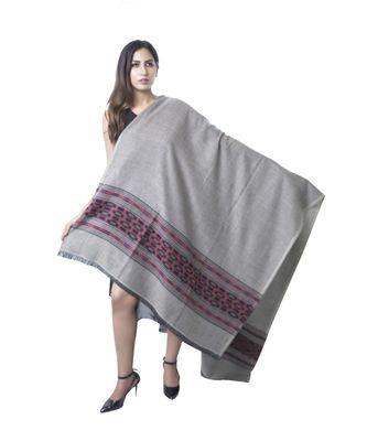 Fine Wool Shawl   Kullu Design  Lambs Wool  Soft and Warm Shawl / Stole / Wrap