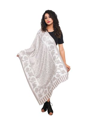 Women Fine Wool Silk   All Over Paisely Pattern  Soft  Stole / Shawl / Scarf