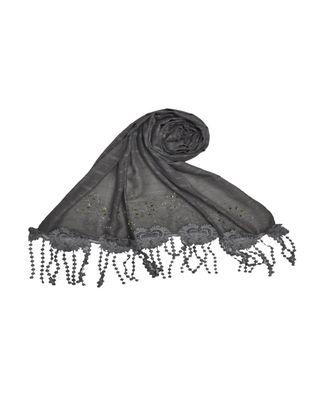 Grey Cotton   Premium Hijab