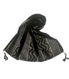 Black Cotton   Premium Scarf