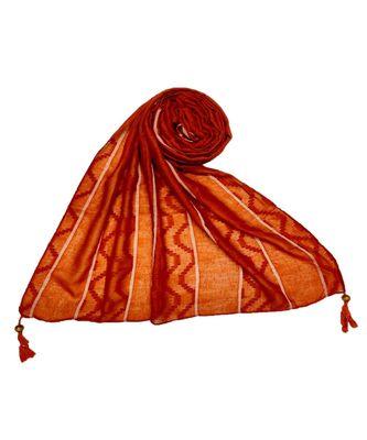 Orange Cotton   Premium Stole
