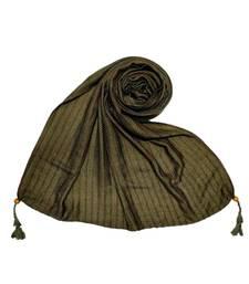 Dark Green Cotton   Premium Scarf