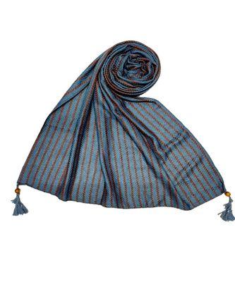 Blue Cotton   Premium Stole