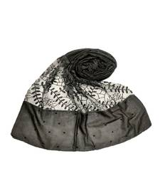 Black Cotton   Premium Hijab
