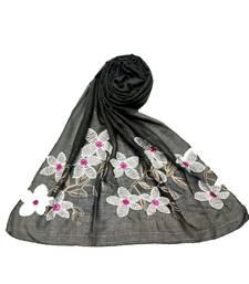 Dark Grey Cotton   Premium Scarf