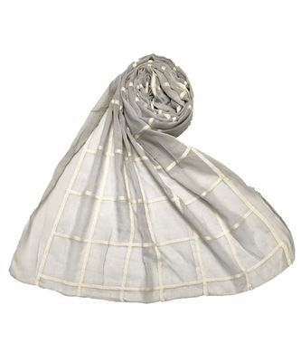 Grey Cotton   Premium Stole