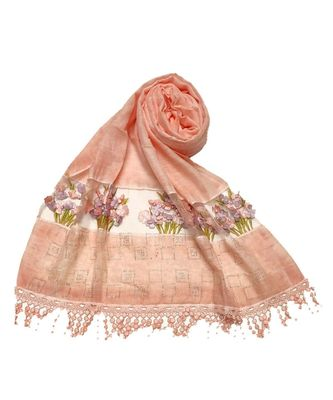 Orange Cotton   Premium Stole