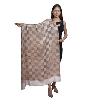 Fine Wool  Designer Check Box    Soft & Warm Shawl / Stole / Wrap