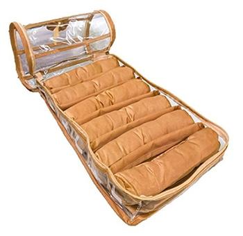 Atorakushon® gold  Satin 6 Rods Bangle Box Ring Earring Box Saree Cover Blouse Cover Travelling Wedding  Kit For Women