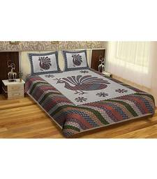RIDAN COTTON MULTICOLOUR PRINTED KING SIZE DOUBLE  SHEET WITH PILLOW COVER