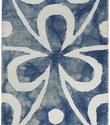 Wool Rug for Living Room/ Hall 2'x 3' Blue