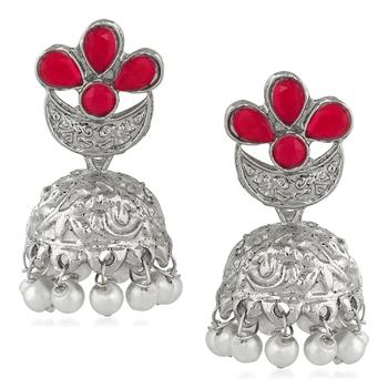Red crystal earrings