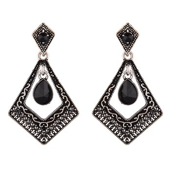 Black zircon   earrings