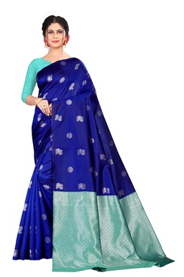 Royal blue color jacquard