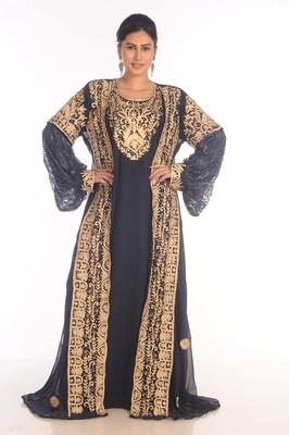 SALE !! Moroccan Modern Kaftan Farasha Maxi Zari Work Vary Fancy Abaya Dress