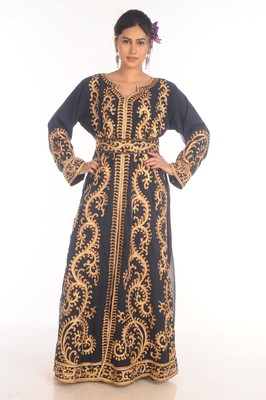Fancy Popular Modern Kaftan Farasha Maxi Zari Work Vary Fancy Abaya Dress