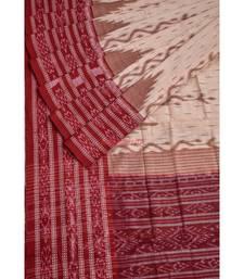 OFF WHITE MAROON DAALI SCOTT saree