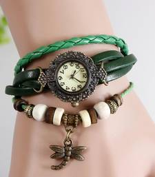 Buy Women's Casual Green Watch Ladies Bracelet Watch Butterfly gifts-for-sister online