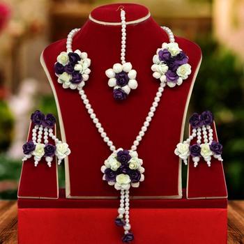 Purple necklace-sets