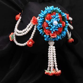 Orange hair-accessories