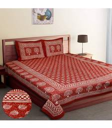 RIDAN COTTON DABU BLOCK PRINT KING SIZE DOUBLE BED SHEET