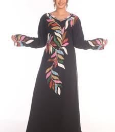Royal Ethnic Maxi Abaya Moroccan Islamic Kaftan Beach Fancy Modern Floor Length Bell Sleeve For Women Dress