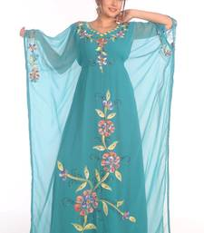 SALE !! Dubai Moroccan Islamic Kaftan Beach Fancy Modern Floor Length Bell Sleeve For Women Dress