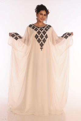 Ethnic Maxi Abaya Moroccan Islamic Vary Fancy Kaftan Beach Fancy Modern Floor Length Bell Sleeve For Women Dress