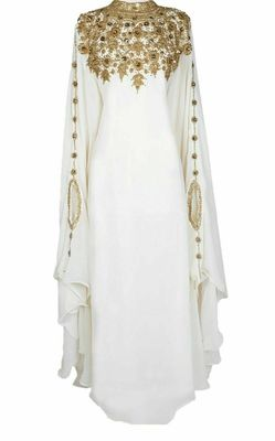 Exclusive Maxi Abaya Moroccan Islamic Kaftan Beach Fancy Modern Floor Length Bell Sleeve For Women Dress