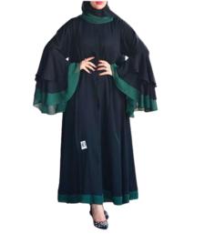 Modern Fancy Nida & Green Georgette Fabric Multi-color Party Wear abaya Maxi Floor Length Dress