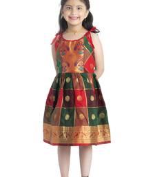 Bhartiya Paridhan Girls Ethnic Green Frock