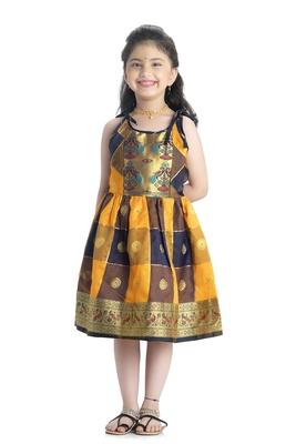 Bhartiya Paridhan Girls Ethnic Yellow Frock