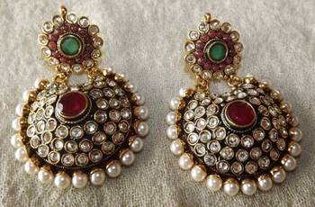 Beautiful Antique Earrings-Perfect with Indian Outfits