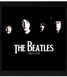 The Beatles  Music Black Framed Wall Hanging Art Print for Office  Home Reading Room  ( 8x8 ) Inch