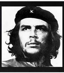 Che Guevara  Motivational Black Framed Wall Hanging Art Print for Office  Home Reading Room  ( 8x8 ) Inch