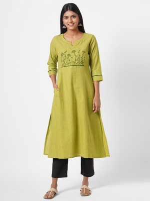 2 Ply kurta with embroidery