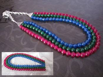 SEMI PRECIOUS MULTI NECKLACE