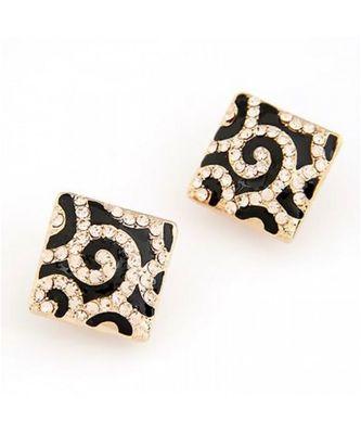 Leopard Diamond Stud Earrings