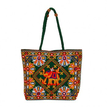 GREEN Rajasthani Handbags for Women