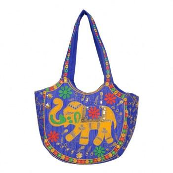 BLUE Rajasthani Handbags for Women