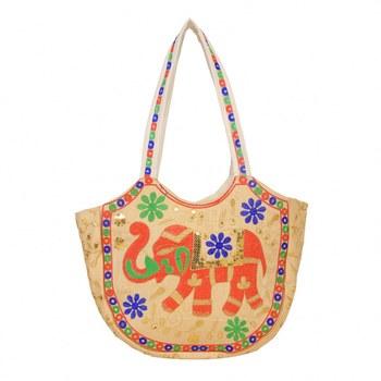 CREAM Rajasthani Handbags for Women