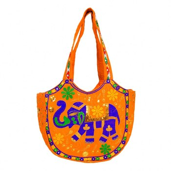 ORANGE Rajasthani Handbags for Women
